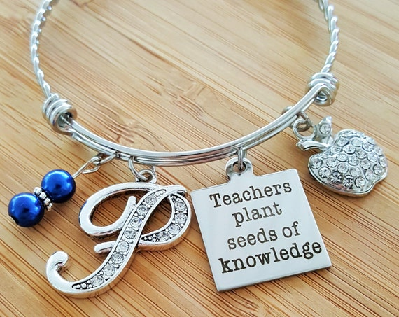 Teacher Appreciation Gift Teacher Gifts Teacher Bracelet Teacher Jewelry Preschool Teacher Gifts Teachers Plant Seeds of Knowledge