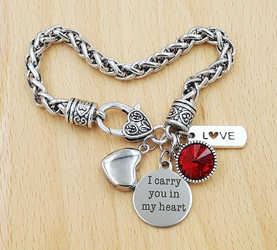Urn Bracelet Urn Jewelry Sympathy Bracelet Sympathy Gift In Memory of Memorial Bracelet Loss of Mom Son Daughter Remembrance Bracelet