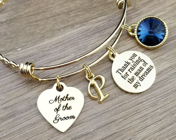 Gold Mother of the Groom Gift Mother of the Groom Bracelet Mother of the Groom Jewelry Mother of the Groom Gift From Bride Thank You