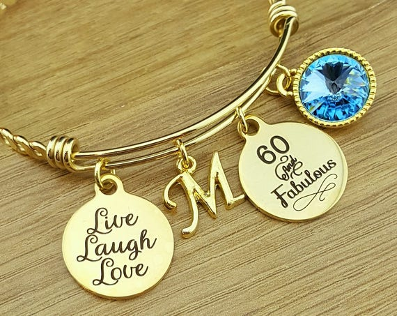 Gold 60 Birthday Gifts 60th Birthday Gift Birthday Gift Birthday Gifts for Her Birthday Gift for Friend Birthday Gifts 60 and Fabulous