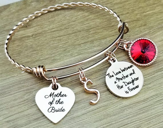 Rose Gold Mother of the Bride Gift Rose Gold Mother of the Bride Bracelet Mother of the Bride Gift From Daughter Mother of the Bride Jewelry