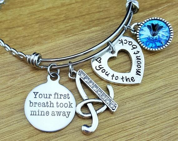 New Mom Gift New Mom Bracelet New Mom Jewelry Mothers Day Gift Mom Bracelet Mom Jewelry Bracelet for Mom Mother Bracelet Birthstone