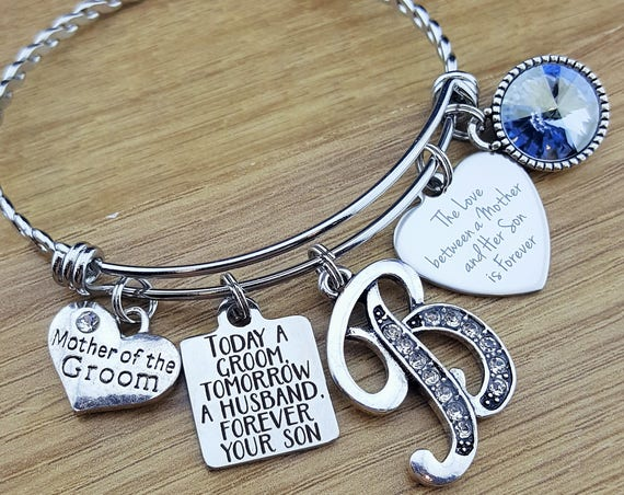 Mother of the Groom Gift Mother of the Groom Bracelet Mother of the Groom Gift From Son Mother of the Groom Jewelry Today a Groom