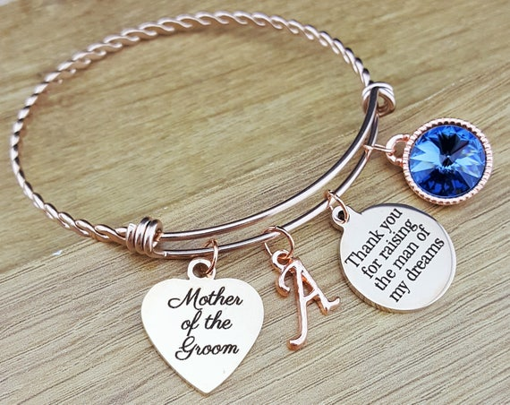 Rose Gold Mother of the Groom Gift Mother of the Groom Bracelet Mother of the Groom Jewelry Mother of the Groom Gift From Bride Thank You