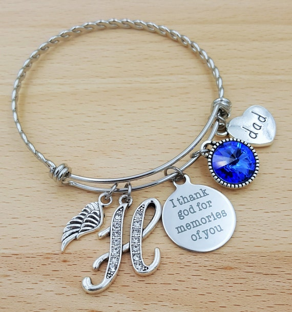 Sympathy Bracelet Sympathy Gift In Memory of Dad Memorial Bracelet Loss of Father Remembrance Bracelet Remembrance Jewelry