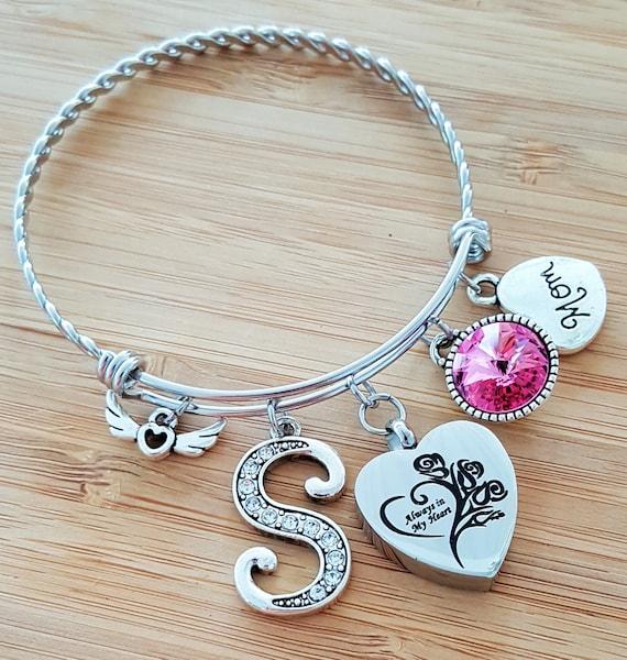 Urn Bracelet Urn Jewelry Sympathy Bracelet Sympathy Gift In Memory of Mom Memorial Bracelet Loss of Mother Loss of Mom Remembrance Bracelet