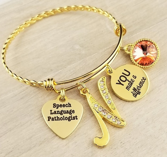 Gold Speech Language Pathologist Gift Gift for Speech Language Pathologist Graduation Gift School Speech Language Pathologist Gift