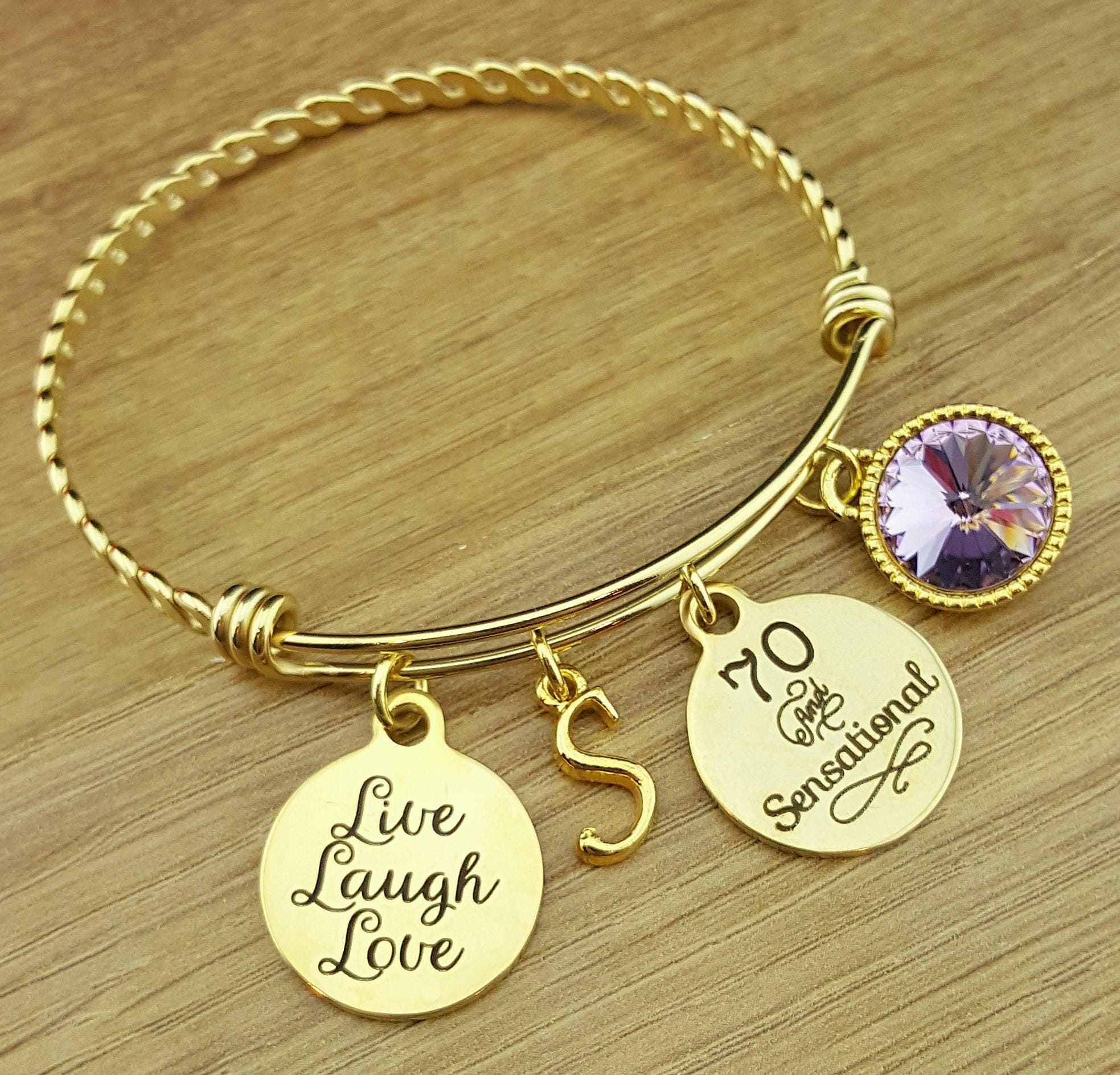 Gold 70 Birthday Gift 70th Gifts For Her Friend And Sensational
