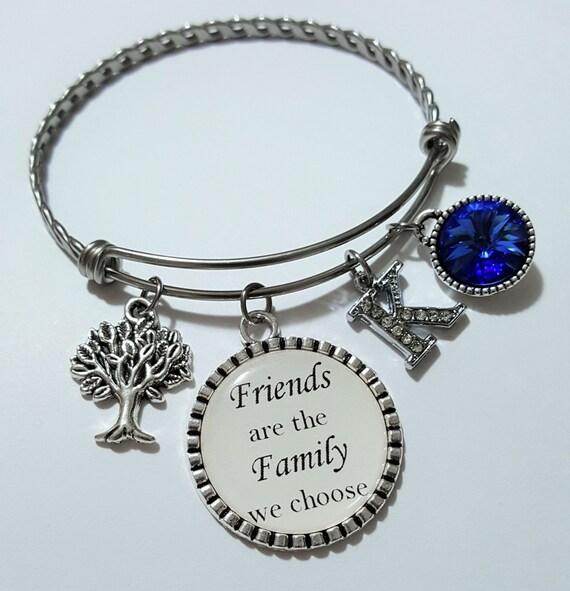 Friends are The Family We Choose Bracelet Jewelry Friendship Bracelet