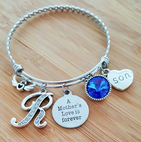 Sympathy Bracelet Sympathy Gift In Memory of Son Memorial Bracelet Loss of Son Remembrance Bracelet Remembrance Jewelry Mothers Love Forever
