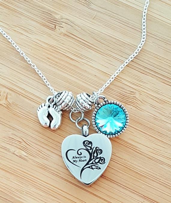 Urn Necklace Miscarriage Stillbirth Gift Stillborn Bracelet Stillborn Gift Sympathy Gift In Memory of Baby Loss of a Child Loss of Baby