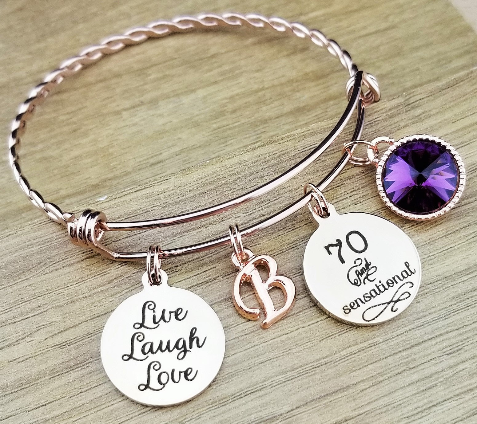 Rose Gold 70 Birthday Gift 70th Gifts For Her Friend Sensational