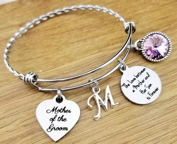 Mother of the Groom Gift Mother of the Groom Bracelet Mother of the Groom Jewelry Mother of the Groom Gift From Son Love Between Mother Son
