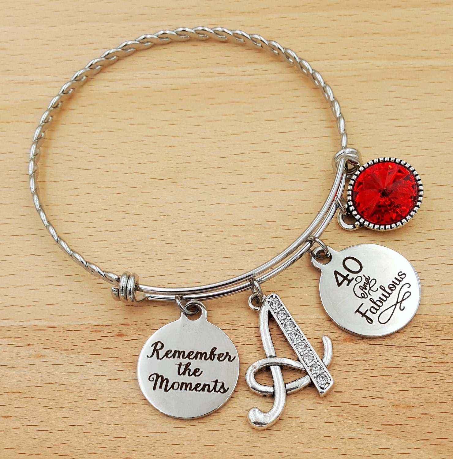40th Birthday Bracelet Gifts For 40 Year Old Woman Best Friend And Fabulous Forty Jewelry