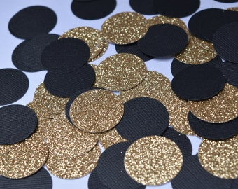 Black and Gold Confetti, Black and Gold Party Decorations, Engagement Party Decorations, 30th Party, 40th Party, 50th Party, 60th Party