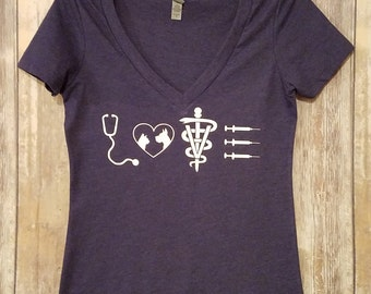 Veterinary Nurse / Veterinary Technician / Veterinarian v-neck Tee