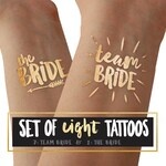 Team Bride tattoos for bachelorette party and hens party / temporary tattoo tato tatoo / summer wedding / beach party / reno party