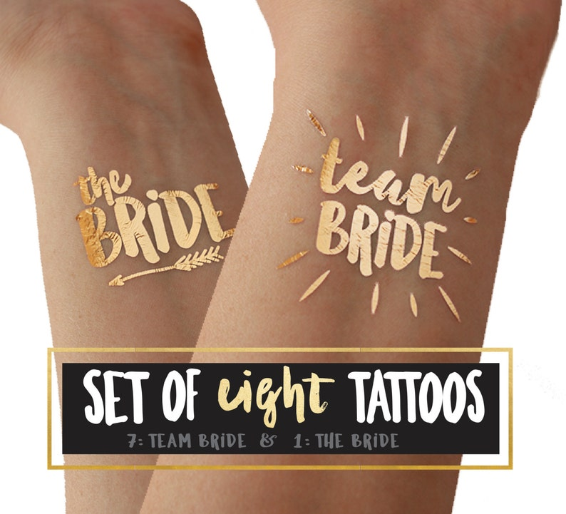 Team Bride tattoos for bachelorette party and hens party / image 0