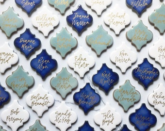 Wedding Place Card Tiles, Place Cards with Names, Wedding Escort Cards, Escort Cards, Ocean Wedding, Beach Wedding Decor, Wedding Decor