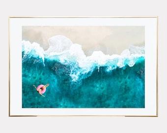 Aerial beach print, Aerial beach photography, beach prints wall art, Coastal wall art, beach wall art, downloadable prints, printable art