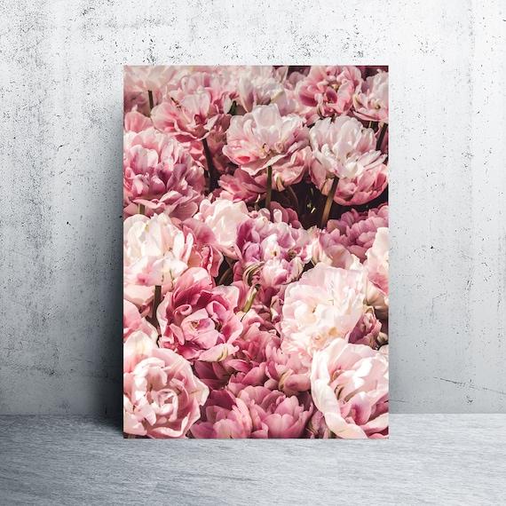 Pink flowers wall art pink flowers print pink flowers pink etsy image 0 mightylinksfo