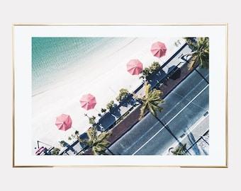 Beach print, aerial beach print, beach printable, beach prints wall art, coastal prints, beach digital print, downloadable prints, digital