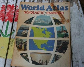 World Atlas , 1973 Scholastic Book Services ,  Educational First Atlas