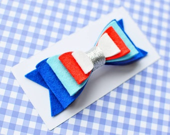 4th of july hair bow for girl fourth of july hair bow clip for toddler independence day hair accessories red white blue hair clip patriotic