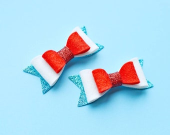 4th of july pigtail bows baby hair clips bomb pop pig tail bows fourth of july hair bow infant hair clips red white blue hair clips popsicle