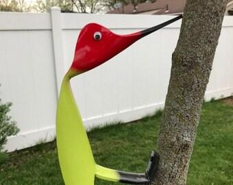 Woodpecker Garden Art Key Lime Green