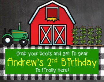 Farm Birthday Invitation - Digital Download