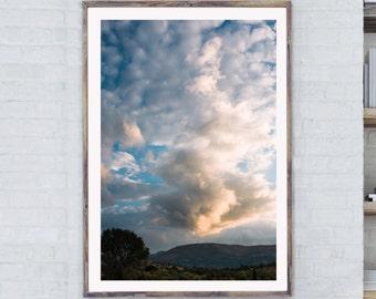 Cloud photo print, Sky art print, Print Wall Decor, Sunset Photo Print, Vertical Cloud Print, Sky Cloud Print, Cloud Art Photo, Fine Print