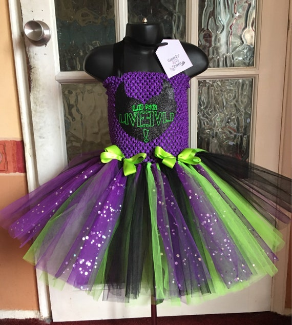 Disney Descendants Mal Inspired Tutu Dress