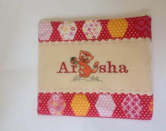 Travel diaper bag/ personalised small changing bag