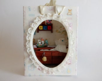 """GIFTBAG - Miniature Scene in a Giftbag - """"Baby-Shower"""" - Hand-Crafted - OOAK"""