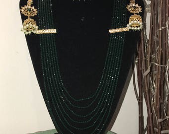 HYDERABADI Emerald Green Choker Set