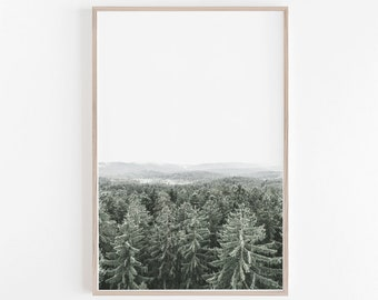 nature wall art whimsical forest printnature wall artpine printgreen artforest artnature art printprintsgreenart decor nature wall art etsy
