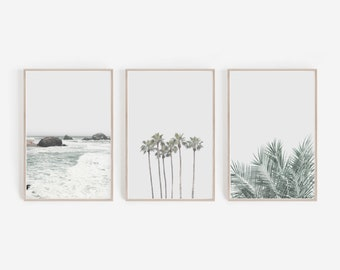 Set of 3 PrintsPrintsWall ArtWall DecorDigital DownloadHome DecorLarge Wall ArtBeach PrintPalm Trees PrintSet of PrintsArt Prints  sc 1 st  Etsy & Wall art | Etsy