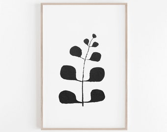 Black and White Art, Watercolour Print, Black and White Print, Leaf Print, Watercolour Art Print, Watercolour Art, Black and White, Wall Art