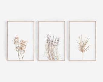 Set of 3 Prints, Farmhouse Decor, Farmhouse Wall Art, Lavender Print, Lavender Wall Art, Rustic Decor, Rustic Wall Art, Set of 3, Wall Art