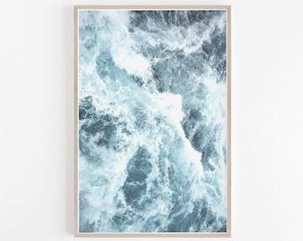 Ocean Print,Blue Wall Art,Beach Decor,Beach Photography,Wave Print,Wave Wall Art,Waves Print,Ocean Art,Waves Photography,Beach Prints,Ocean