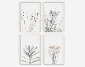 Set of Prints,Wall Art,Set of 4 Print,Digital Print,Printable Wall Art,Botanical Prints,Botanical Wall Art,Wall Decor,Digital Art,Print Set