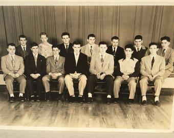 Black and white photo-1950s Class photo