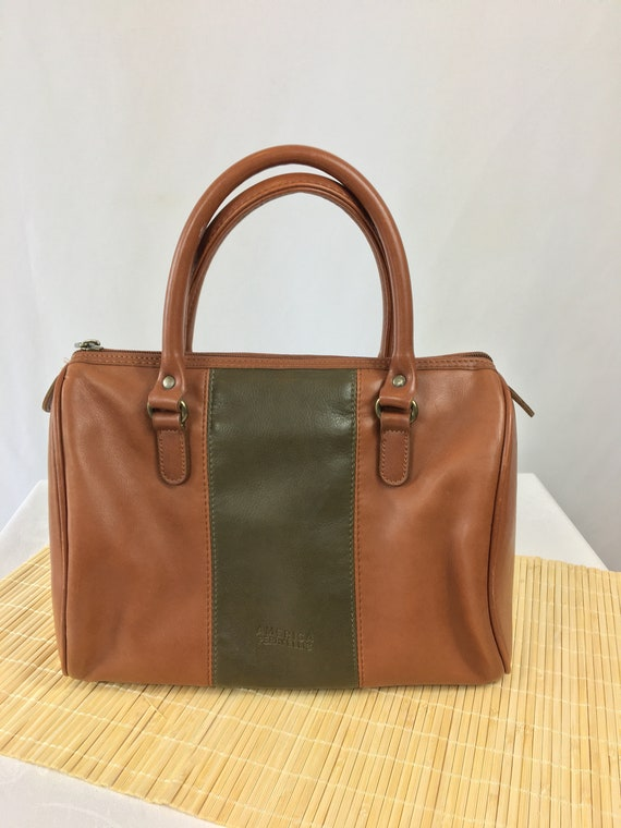 Perry Ellis Leather Top Handle Purse