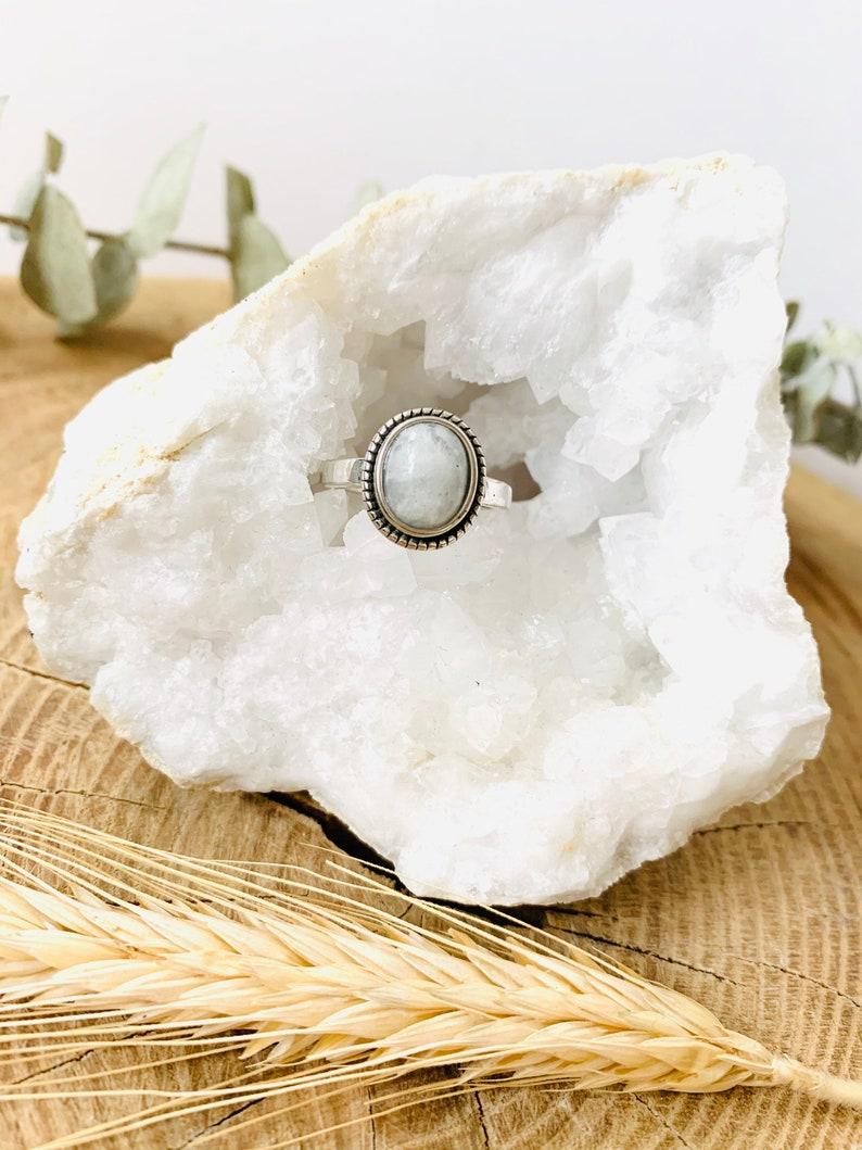 Endometriosis Childbirth 925 Pregnancy Uterus Fertility Sacred Female Moonstone Ring