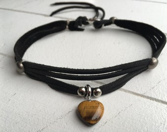 Tiger eye Heart Necklace