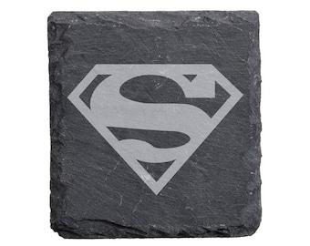 Superman Engraved Slate Coasters