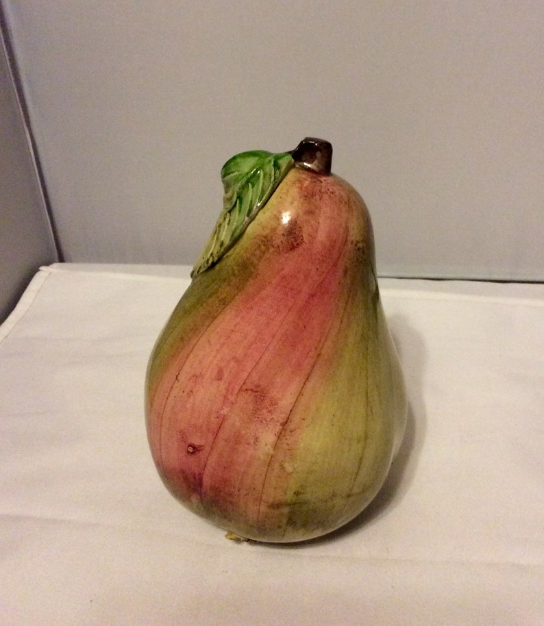 Vintage Vietri Green and Red Pear Made in Italy