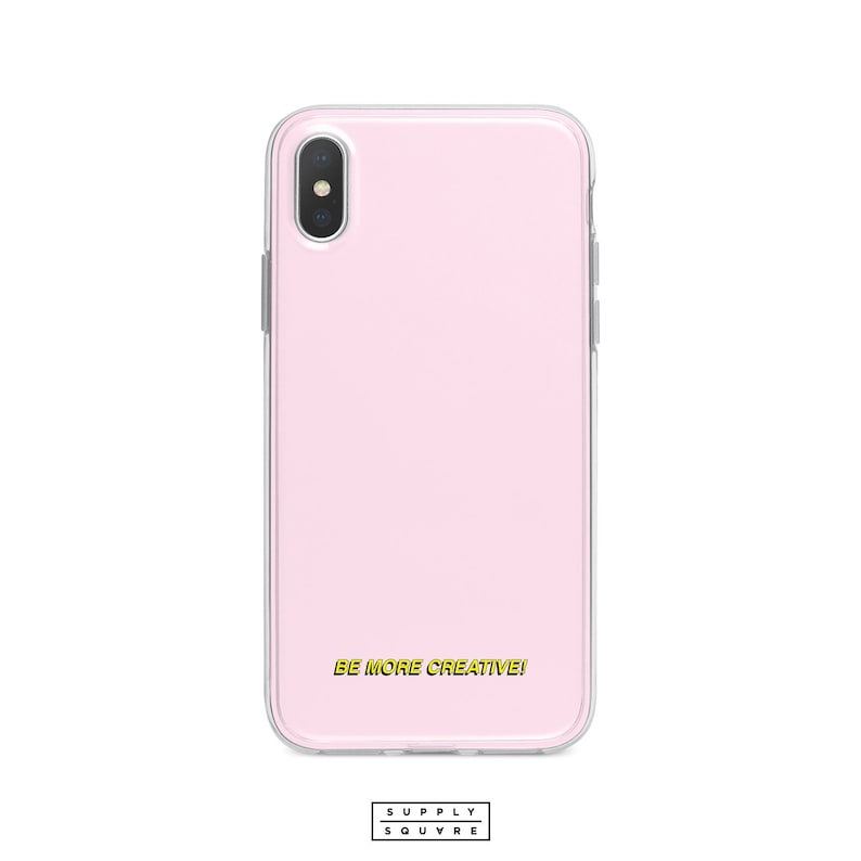new concept f5960 2b1bd Light Pink iPhone X Case Be More Creative Subtitle iPhone Xs Max Xr iPhone  7 Plus 8 Plus iPhone SE Case iPhone 6s Plus iPhone 5s Art Love SS