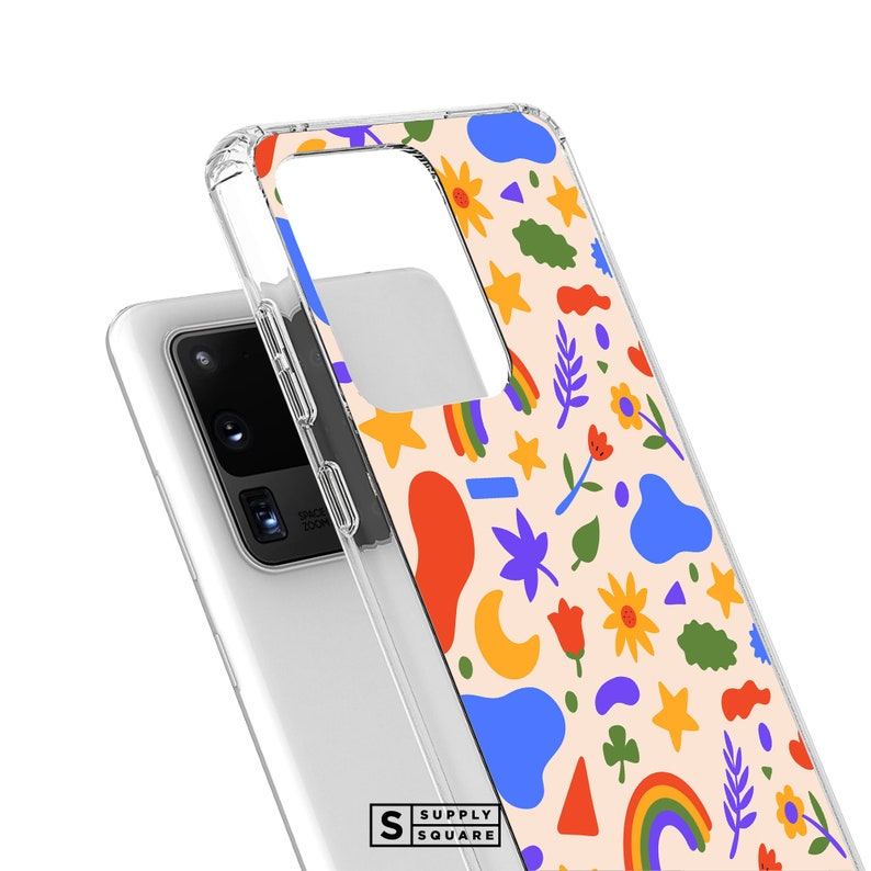Cute Summer Shapes Galaxy Case S20 Plus Galaxy S10 Case Note 20 Plus Case Galaxy S20 Ultra S8 Plus Galaxy Note 10 Galaxy S9 Plus